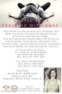 Gentle Yoga Training With Anne @ True Self Yoga