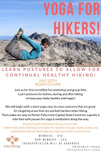 Yoga For Hikers @ Trueself Yoga | Olympia | Washington | United States