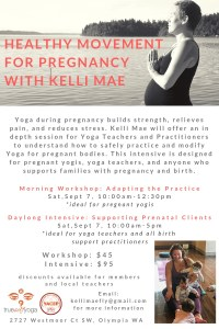 Healthy Movement For Pregnancy: Intensive @ True Self Yoga