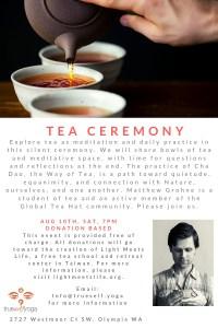 Tea Ceremony @ True Self Yoga