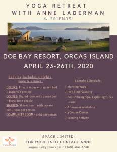 Yoga Retreat w/ Anne at Doe Bay Resort, Orcas Island @ Doe Bay Resort | Olga | Washington | United States
