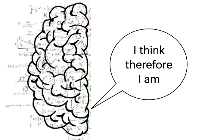 I think therefore I am - the left hemisphere of the brain
