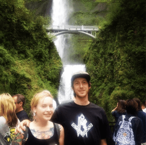 Not sure how I look so bucktoothed, but here's Multnomah Falls, Oregon.