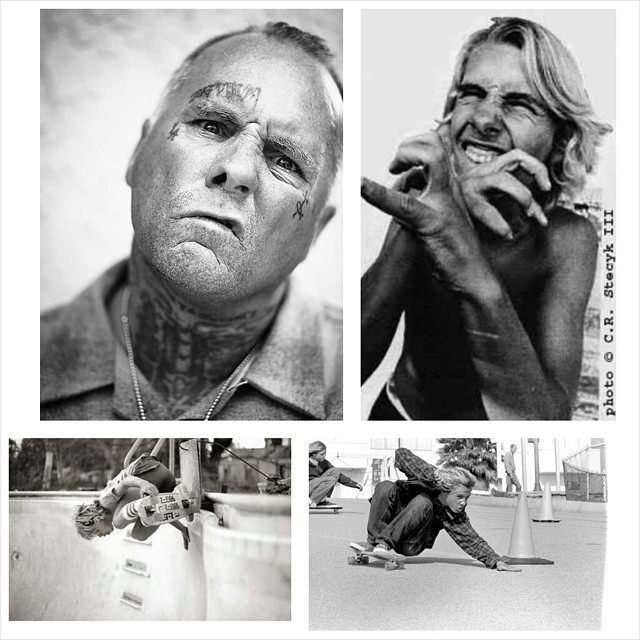 """here is a collage i made in honor of the legend jay """"jboy"""" adams. thank you for all you have done for skateboarding jboy."""