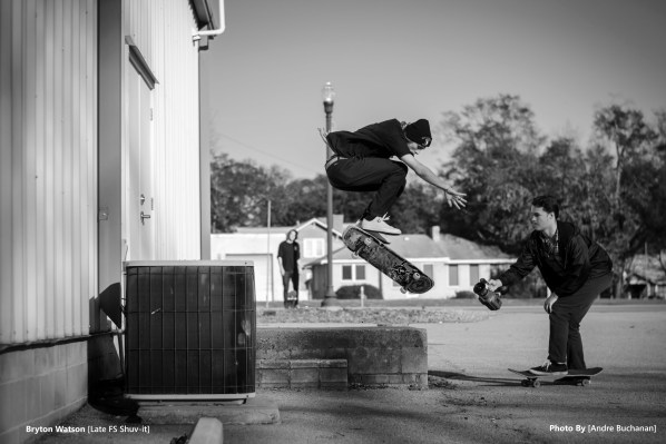 Sava Kucherin with the film butter and Bryton Watson with the gnar.