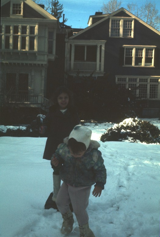 My sister and I at the Lawrence Homestead Groton MA circa 1971