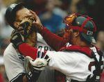 Alex Rodriguez and Jason Varitek Fight 7-24-2004