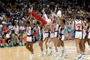 Pat Summitt wins the 1984 Gold Medal in Women's Olympics Basketball