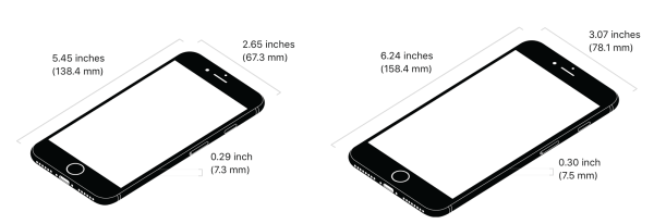 iPhone 8 dimensions