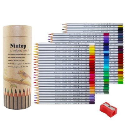 Niutop 72-color Premier Soft Core Art Colored Drawing Pencils