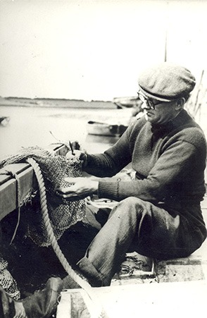 mending a fishing net