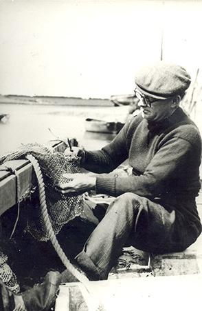 mending a fishing net