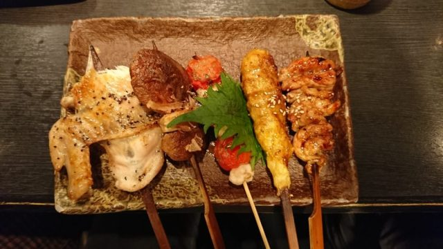 Delicious yakitori or meat grilled on skewers -- photo by Hanna Takeuchi