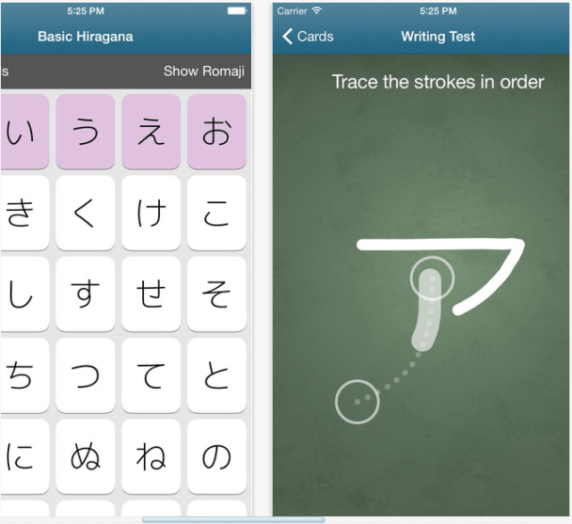 Learning Japanese Hiragana