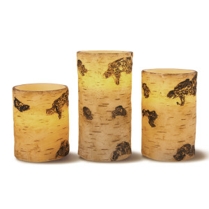 Bed Bath and Beyond Flameless Birch Pillars - hostess gifts