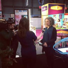 Trae Bodge at New York Toy Fair - WCBS