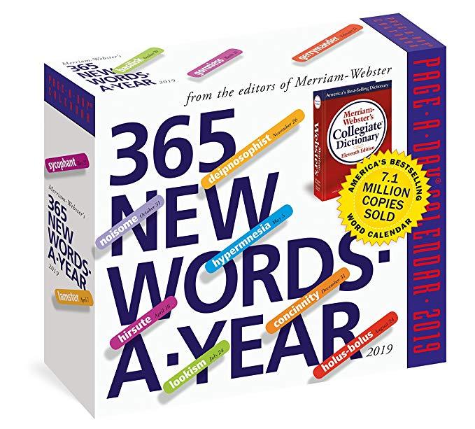 2019 365 day calendar