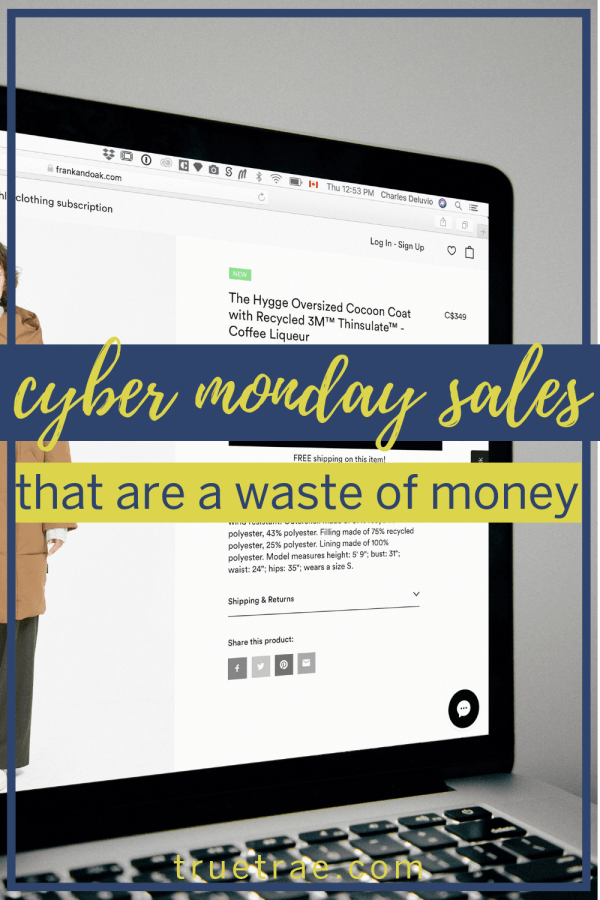 Cyber Monday sales are some of the best deals of the year – usually. But without researching store sales for Cyber Monday, you could actually be wasting money. Here's what you should know to save money! #cybermonday #cybermondaydeals #cybermondaysales #cybermonday2018