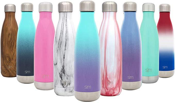 simple modern wave water bottles