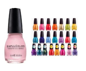 sinful colors 10 piece surprise nail polish gift set