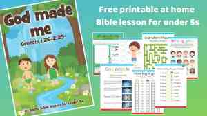 God made me - Free printable at home Bible lesson for under 5s