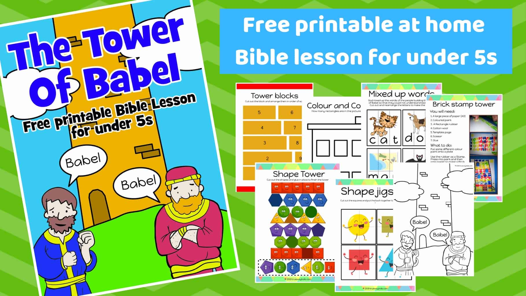 graphic regarding Bible Lessons for Adults Free Printable named The Tower of Babel - Cost-free printable Bible lesson for
