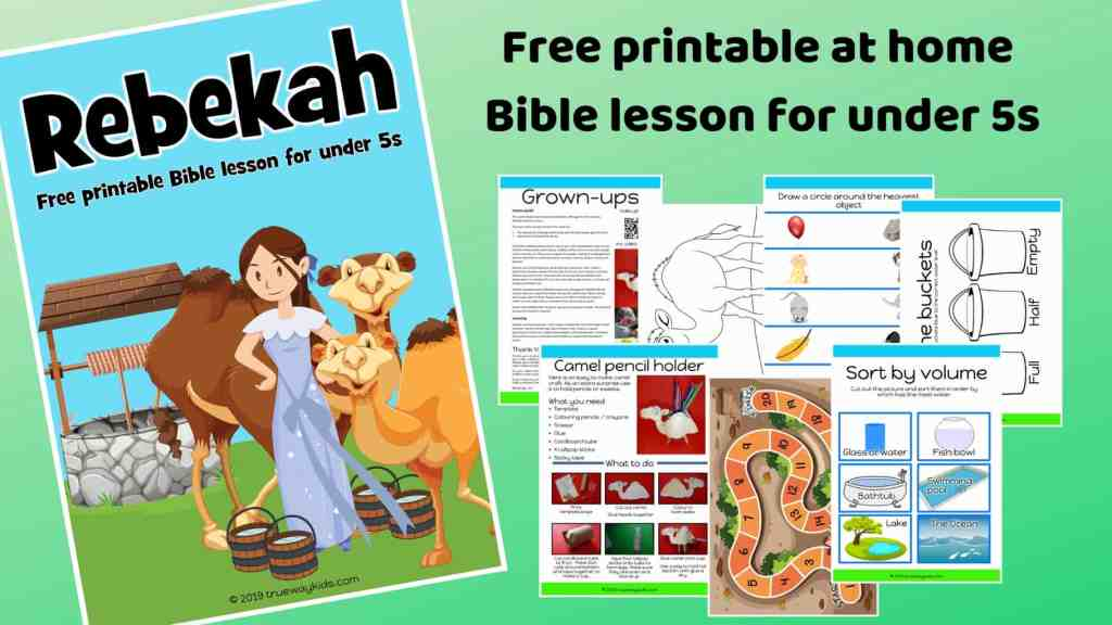 SoIsaac and Rebekah preschool Bible lesson. Learn about choice and doing good.Games, Crafts, Activities, songs, lesson, worksheets and more.