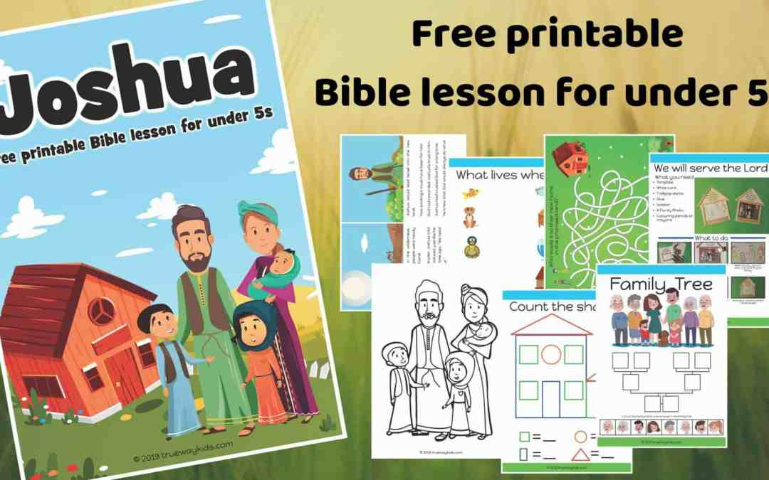 Joshua – Free Bible lesson for under 5s