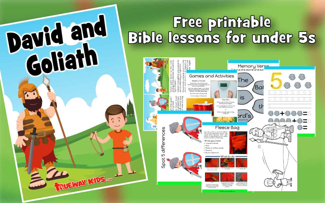picture relating to David and Goliath Printable Story known as David and Goliath - Preschool Bible lesson - Trueway Small children
