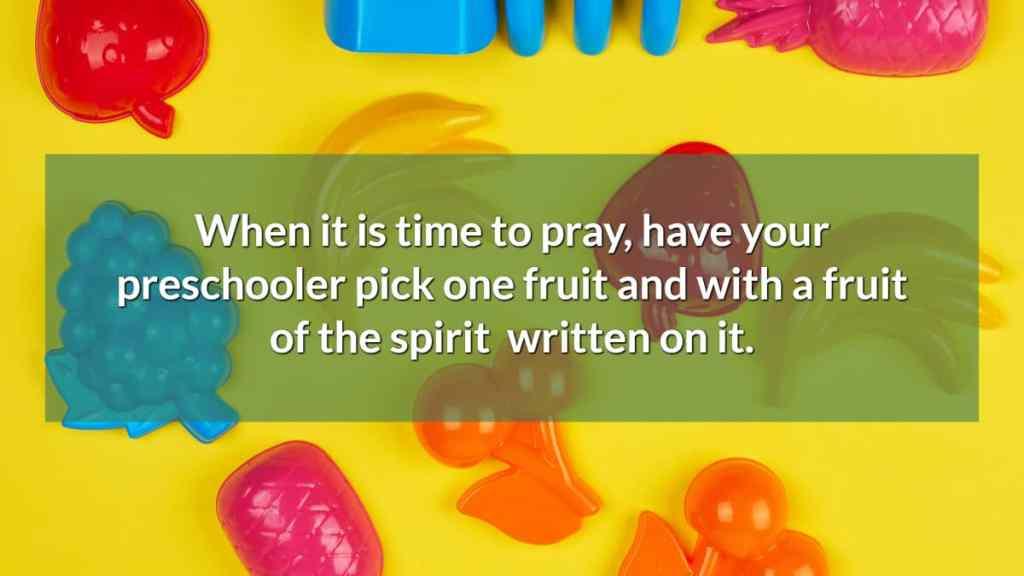 prayer fruits. creative prayer idea