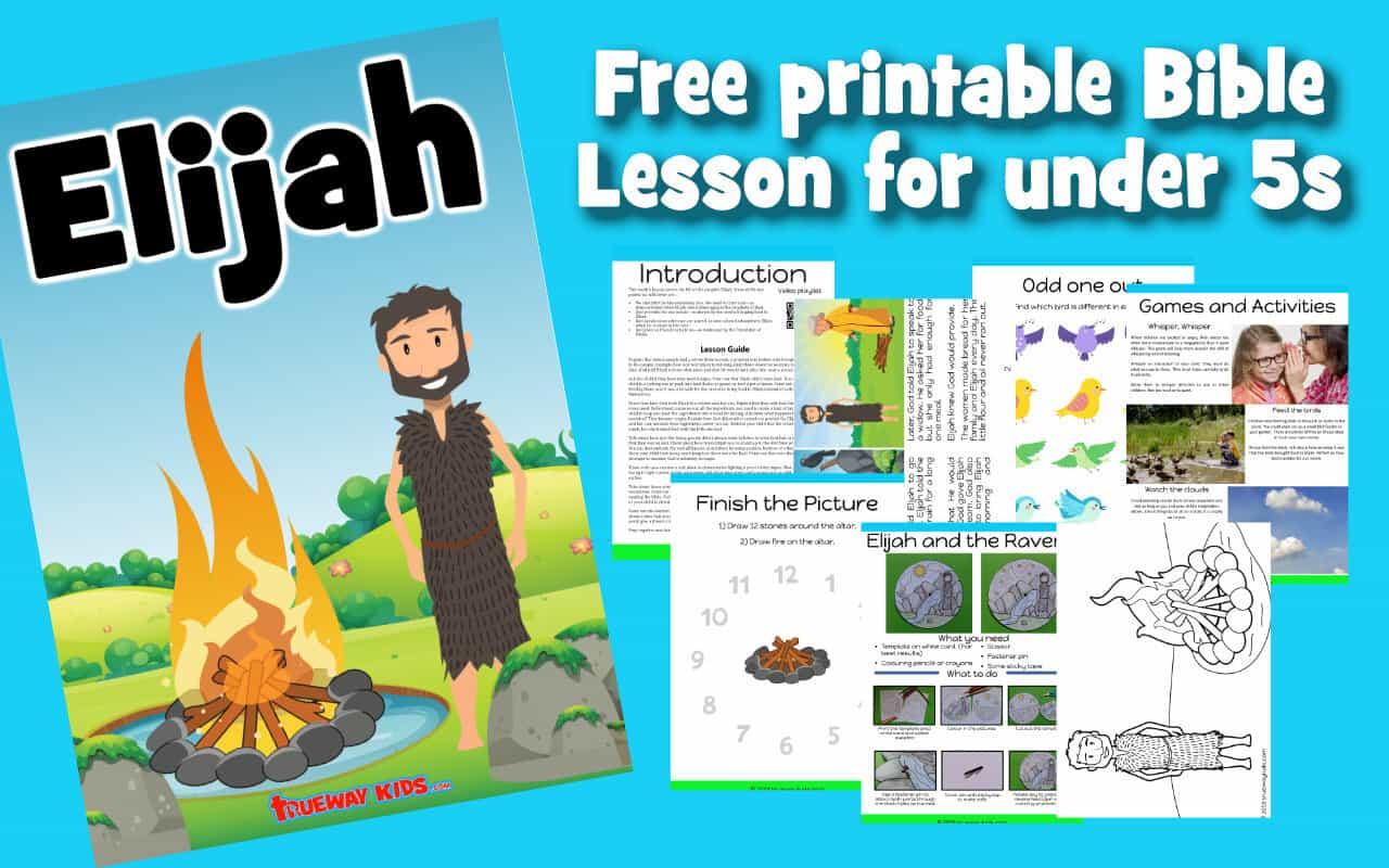 Elijah Preschool Bible Lesson
