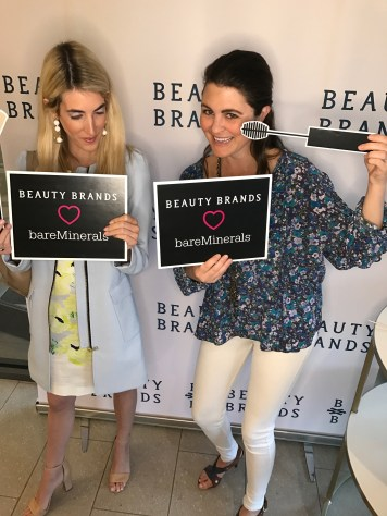 Me and Nicole having fun at the bareMinerals x Beauty Brands event!
