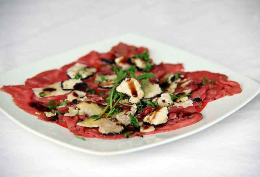 Beef and Fresh Truffle Carpaccio