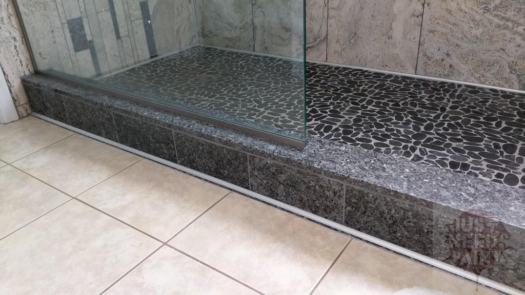 pre made shower curb