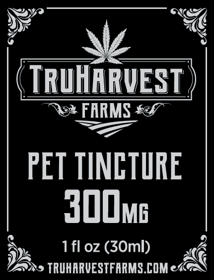 Container of hemp-based pet tincture