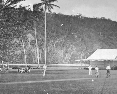 Truii data visualisation, analysis and management Cricket match on Kwato Island near Samarai ca. 1905 crop