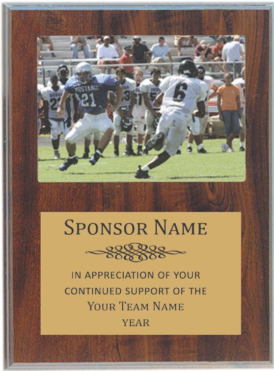 team sponsor plaque holds a 5 x7 team photo this sponsor plaque is