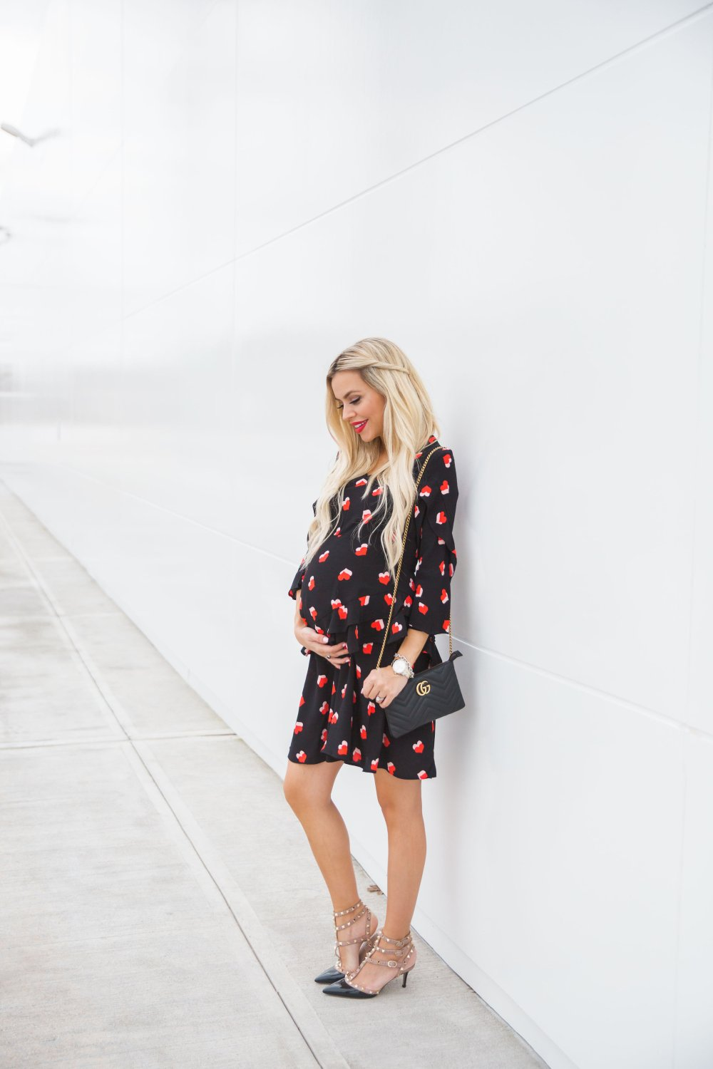This maternity heart dress is perfect for Valentine's Day or any time of the year!