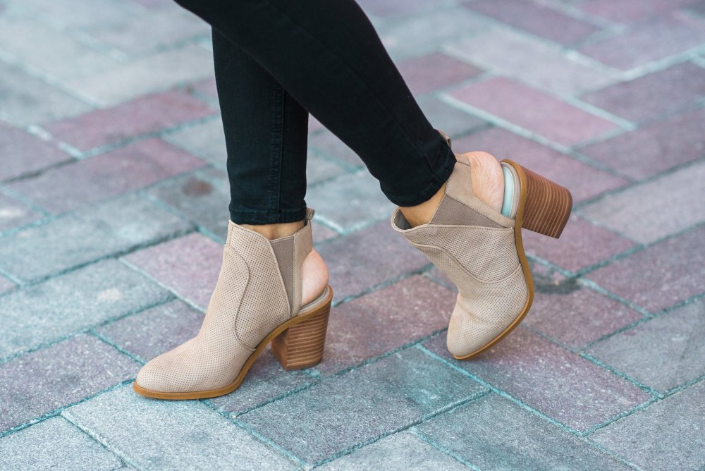 Nude booties that are under $60! These booties are very versatile and go with so much!