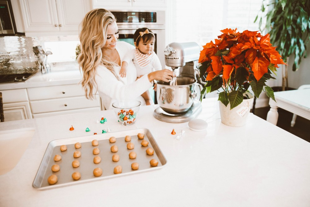 We absolutely love our Google Home Mini and have recently used it to help us in the kitchen! We got into the holiday spirit by making cookies! #trulydestiny #googlehomemini #christmasbaking
