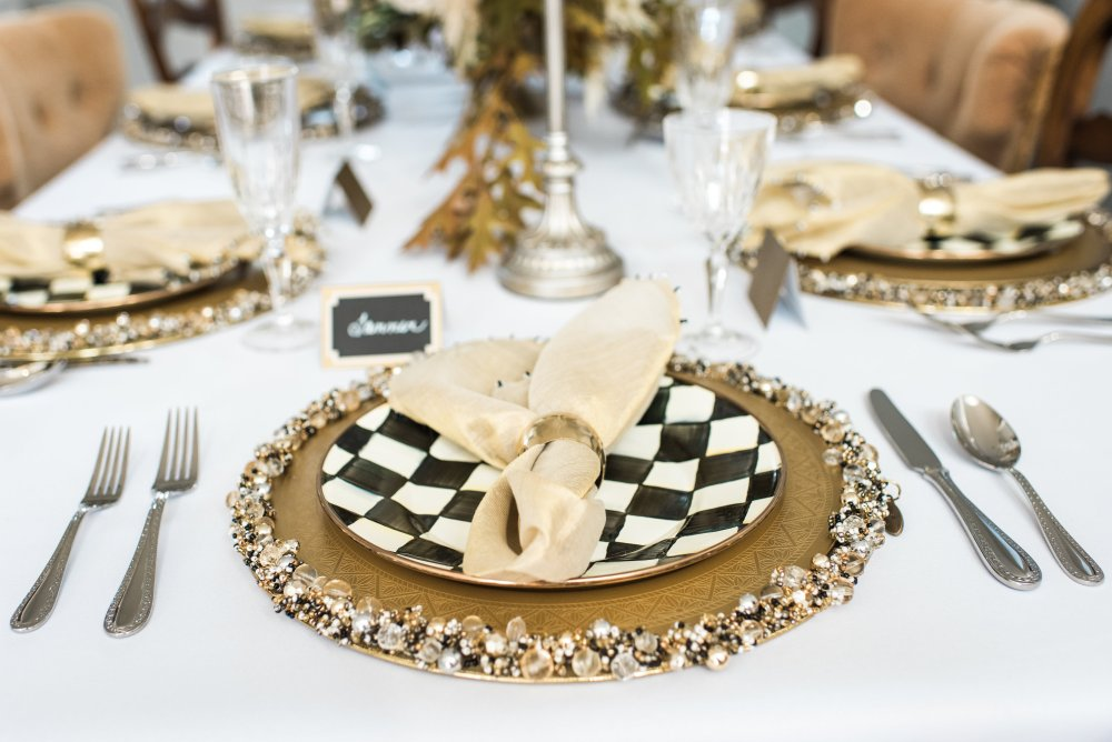 The cutest holiday place settings! Gold, black and white! Very versatile for various holidays or events! Classic combination!