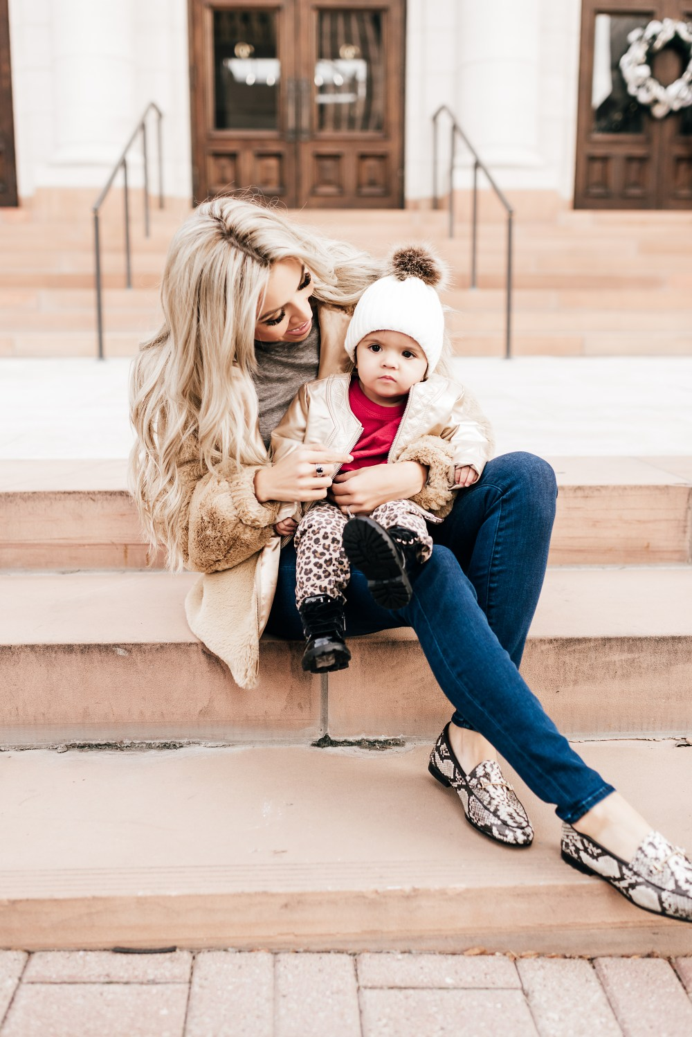 Some cute looks for Valentine's Day and other staple pieces! We are crushing on the animal prints and I absolutely am in love with this little girl of mine! #trulydestinty #motherdaughter #animalprint #womensfashion #girlfashion #babyfashion