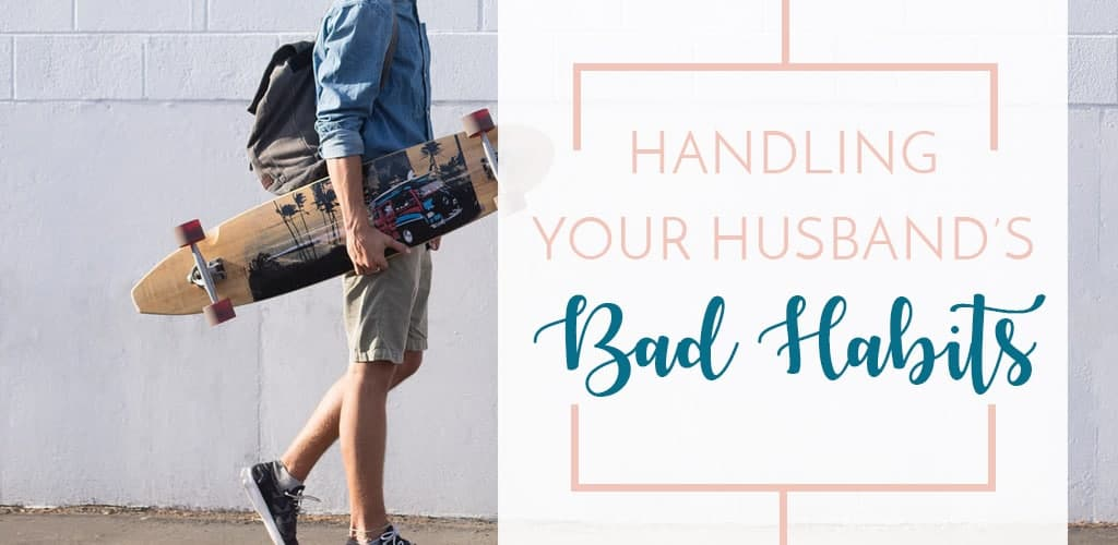 Husband carrying backpack and skateboard. Your man has some bad habits, guaranteed. How should you handle his bad habits as an annoyed wife? Use these tips for handling his bad habits