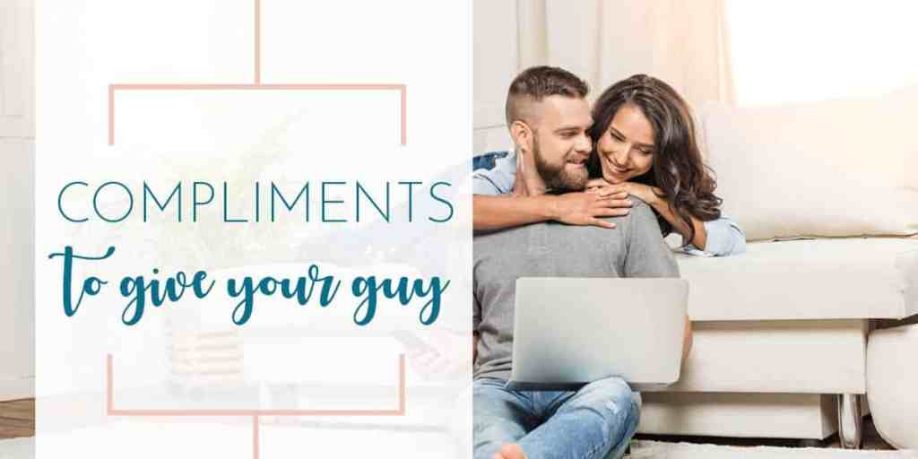 husband and wife couple lounging in love give compliments to your guy