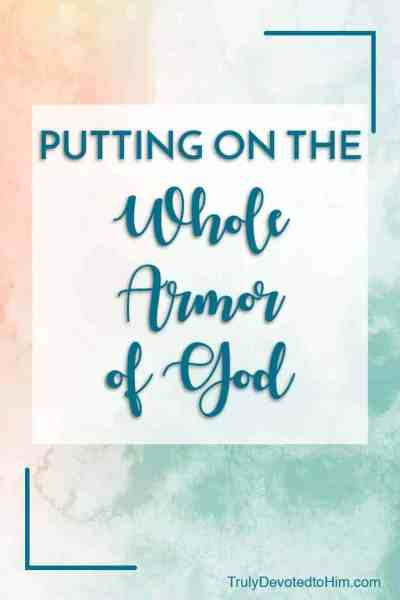 Life in this broken world is hard. Paul describes the armor of God to help us stand strong in this life. A quick read on putting on the whole armor of God.