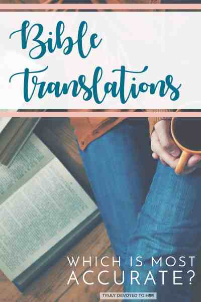 bible translations - woman sitting with coffee and open books - which is most accurate bible translation