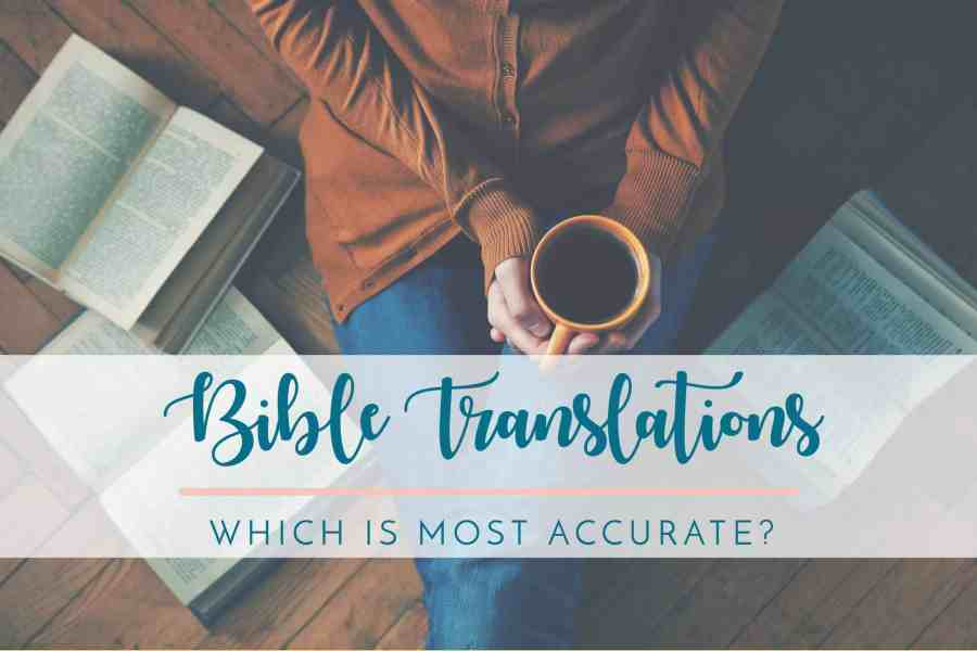 woman sitting reading which is most accurate bible translation drinking coffee