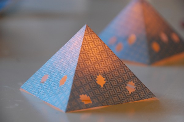 Majestic Diy Paper Pyramid Lantern Truly Hand Picked