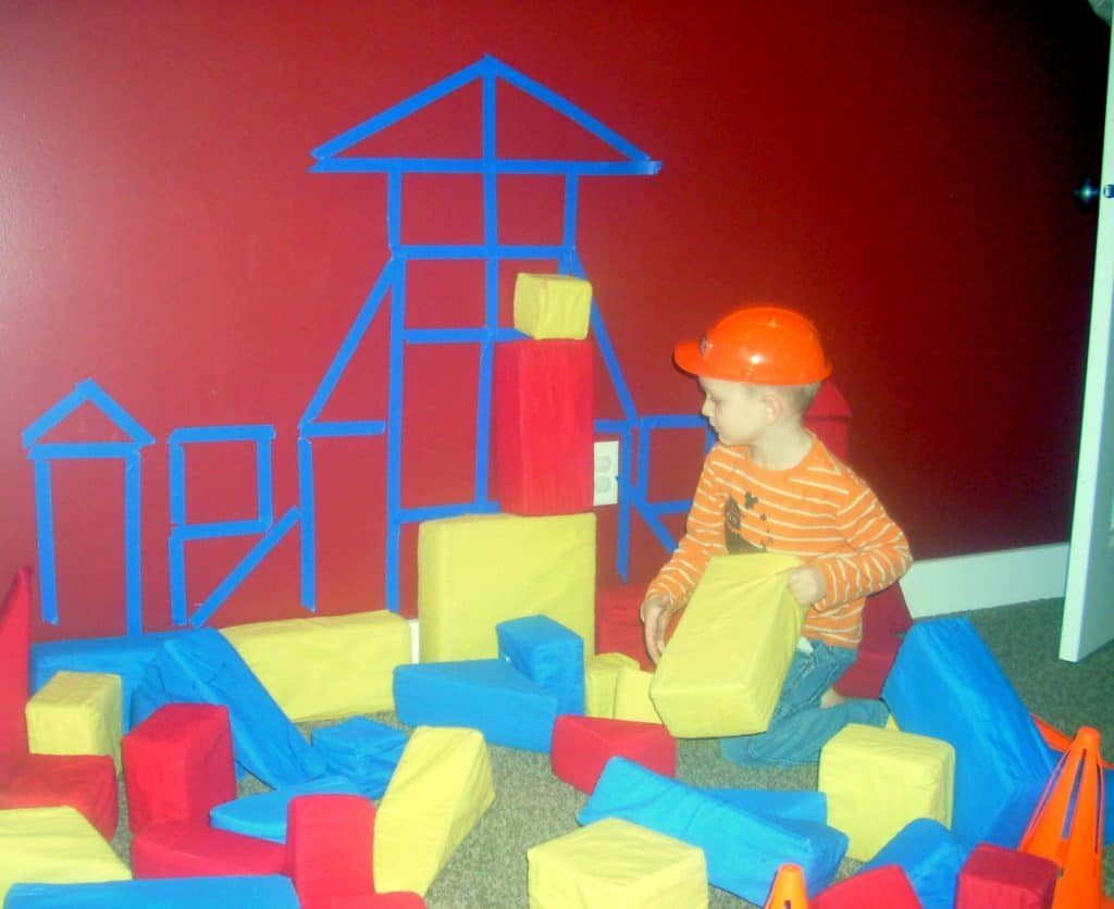 Diy Construction Theme Preschool Activity House Sculpture