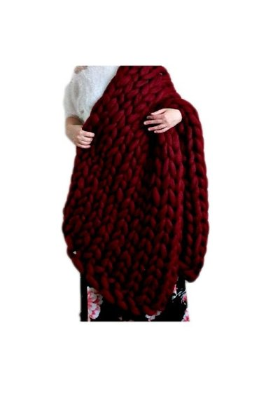 merino wool arm knitted blanket